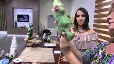 Mulher.com - 21/10/2015 - Árvore de natal em feltro com retalho de tecid...