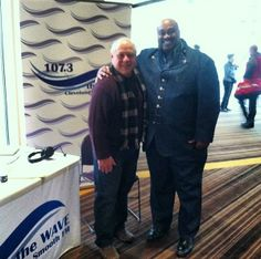 Bobby Thomas & Delvis Valentine at The WAVE's broadcast booth for the opening of the #Skywalk @Horseshoe Cleveland! #CLE #Cleveland #Casino #Horseshoe #Luck