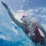 These are some decent workouts    http://www.active.com/swimming/Articles/Four-Focused-Swim-Workouts.htm