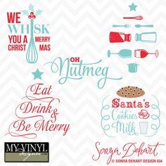 DIGITAL DOWNLOAD ... Christmas vectors in AI, EPS, GSD, & SVG formats @ My Vinyl Designer #myvinyldesigner #sonyadehartdesign