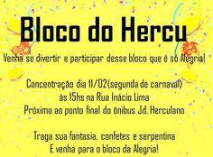 """É Carnaval Vem Pra Rua Também! Após alguns anos de elaboração de um grande evento para a comunidade, o """"Coletivo Sarau do Hercu"""", toma forma de Bloco de Carnaval e sai pelas ruas do Jardim Herculano e adjacências para festejar a maior festa cultural brasileira, o 'Carnaval'. Convidamos a todos os moradores do Jardim Herculano...<br /><a class=""""more-link"""" href=""""https://catracalivre.com.br/geral/rede/barato/bloco-do-hercu/"""">Continue lendo »</a>"""