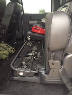 Gun Safe Under the Seat. I Don't need an AR but Preferably for the Rifle and my Hand Gun. Hidden Gun Storage, Weapon Storage, Secret Gun Storage, Home Defense, Self Defense, Truck Storage, Seat Storage, Rifles, Timberwolf