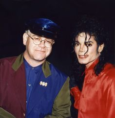 MJ and singer Elton John at the BMI Awards Show in Regent Beverly Wilshire Hotel Beverly Hills May 8 1990