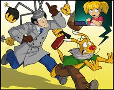I just love how well this shows the common situation of the show!  Fanart - Inspector Gadget by ANGO76.deviantart.com on @DeviantArt