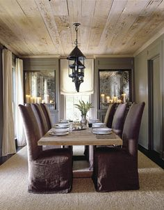 weathered wood ceiling