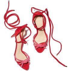 Lanna New Heel Sandal ❤ liked on Polyvore featuring shoes, sandals, stiletto sandals, stilettos shoes, colorblock shoes, block-heel sandals and suede shoes