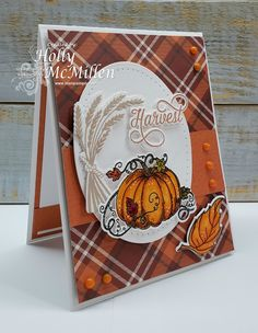 Fall Cards, Holiday Cards, Christmas Cards, Handmade Thanksgiving Cards, Halloween Cards, Fall Halloween, Pumpkin Cards, Stamping Up Cards, Scrapbook Cards