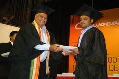 A student recieving his certificate