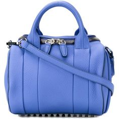 Alexander Wang Rockie Tote (860 AUD) ❤ liked on Polyvore featuring bags, handbags, tote bags, blue, studded handbags, studded tote bag, tote purse, blue tote handbags and handbags totes