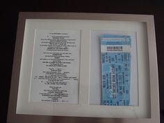 Brilliant presentation of concert tickets