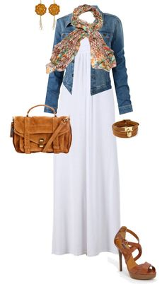 """""""Summer Dress - Fall outfit"""" by erinlindsay83 on Polyvore"""