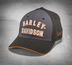 Cap off their casual look. | Harley-Davidson Men's Font 39THIRTY® Baseball Cap #harleydavidsonclothing