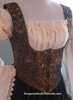 6fdcd431f6 DDNJ Fully Reversible Corset Style Front Lace Underbust Bodice You Choose  Plus cCustom Made ANY Size