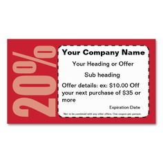 1135 best coupon card templates images on pinterest business card 20 off coupon business card this is a fully customizable business card and available accmission Choice Image