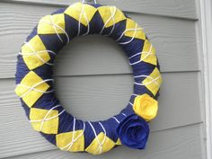 University of Michigan wreath.