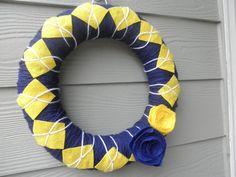 University of Michigan wreath.