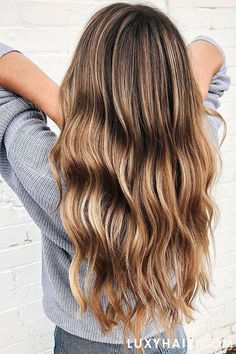 Chestnut to Dirty Blonde Balayage creating using Luxy Hair Extensions, the perfe. Blonde Ombre Hair, Brown Ombre Hair, Brown Hair Balayage, Brown Hair With Highlights, Ombre Hair Color, Light Brown Hair, Hair Color Balayage, Blonde Balayage, Brown Hair Colors