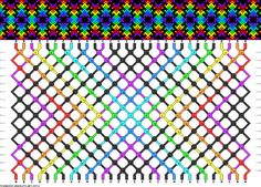 8 colors, 30 strings(2a; 2b; 4c; 2d; 14e; 2f; 2g; 2h), 16 rows #friendship #bracelet #pattern #wristband #handmade #craft #DIY #gradient #rainbow #zigzags #flower Pattern#89710 by dianis