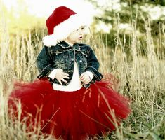 Christmas photo shoot idea for toddlers. I absolutely love the red tutu and Santa hat paired with that jean jacket! Baby Pictures, Baby Photos, Cute Pictures, Family Photos, Holiday Photos, Christmas Photos, Xmas Pics, Christmas Tutu, Christmas Ideas
