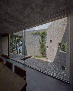 newly built house de Meuron in Caviano