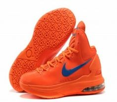 b4d9f60b836 Sale Cheap Nike Zoom KD V 5 Creamsicle Orange Logo Blue Basketball Shoes  Sports Shoes Store