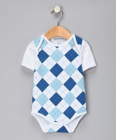 Royal Blue Argyle Bodysuit - Infant by Infinitely Sweet on #zulily today!