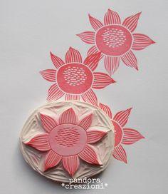 [ timbro fiore pandora ] #rubberstamp #stamp #flower