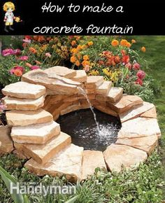 DIY Fountain made from Slabs - http://thegardeningcook.com/diy-fountain-made-from-slabs/