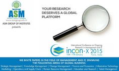 #INCON2015 is a tremendous opportunity to provide international exposure to your research work.