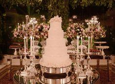 Bolo clássico de casamento - Casamento sofisticado