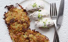 Przepis na dietetyczne placki ziemniaczane - pieczone i bez mąki.