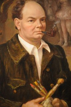 "John Stewart Curry born in Dunavant, Kansas was an American painter depicting life in his home state and hailed as one of three great painters of American Regionalism ""Self Portrait"" - John Steuart Curry 1937 - ( via Flickr)"