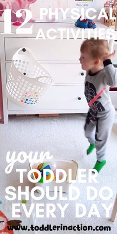 Burn off a good amount of energy with these easy & fun indoor toddler activities at home! For us those activities are a Activities For 1 Year Olds, Indoor Activities For Toddlers, Toddler Learning Activities, Infant Activities, Educational Activities, Kids Learning, Toddler Winter Activities, Easy Toddler Crafts 2 Year Olds, Diy Toys For Toddlers
