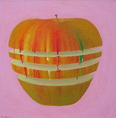 Pomme peinte, version 2010 par Pierre Marcel