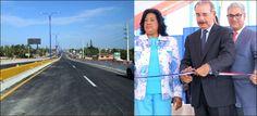 Obras Publicas inaugura elevado acceso a puerto Multimodal Caucedo; Medina realiza corte de cinta