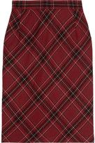 Netaporter skirts clements ribeiro candy plaid woolblend pencil skirt