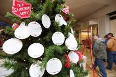 Create an ANGEL TREE. Pick a charity or group of people that are in need and put the needs on the tree. People from the church can each take a card and wrap the gift. Great for a city chicks event. Maybe pick a womens shelter.
