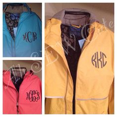 Monogrammed Dancing in the Rain jacket by ahSEWcute on Etsy