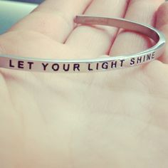 We are all born to shine, like children do...  Let Your Line Shine MantraBand
