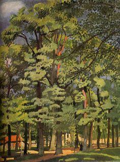 Landscape in Falaise, Raoul Dufy Raoul Dufy, Matisse, Post Impressionism, Art Database, Naive Art, Modern Art, Landscape, Drawings, Artwork