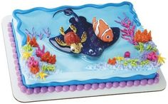 Finding Nemo Squirt Turtle Stingray Ray Birthday Party Cake Decor Topper Kit Set | eBay
