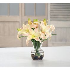 Darby Home Co Lily Centerpiece in Vase