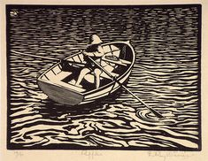 ROY DAVIES Linocut I think its a woodcut but it could be lino cut, no matter I've always enjoyed how water is depicted in these sorts of prints. Illustration Inspiration, Illustration Art, Linocut Prints, Art Prints, Block Prints, Pop Art, Illustrator, Linoprint, Scratchboard
