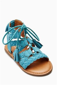 Buy Teal Ghillie Sandals (Younger Girls) from the Next UK online shop