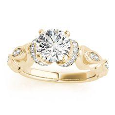 Transcendent Brilliance 14k Gold 1 1/ 2ct TDW Certified Diamond Victorian Engagement Ring (G-H, VS1-VS2) (