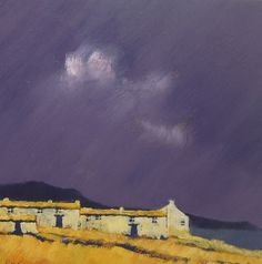 """reminds me of cornwall """"Approaching Storm"""" by John Piper Abstract Landscape, Landscape Paintings, House Paintings, John Piper Artist, Edward Hopper, Pastel Art, Mellow Yellow, Plein Air, Artist At Work"""