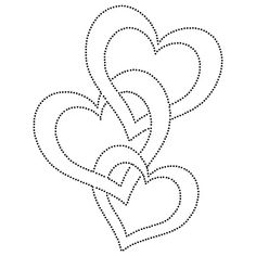 Three Hearts Love String Art Pattern String Art Templates, String Art Patterns, Stencil Templates, Templates Printable Free, Paper Embroidery, Embroidery Patterns, Japanese Embroidery, Flower Embroidery, Embroidered Flowers
