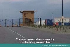 Cool Amazon security checkpoint