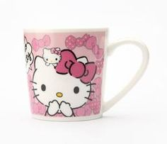 Hello Kitty 8 oz. Ceramic Mug: Pink Ribbon
