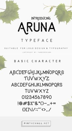 21 New Free Fonts for Graphic Designers | Fonts | Graphic Design Junction Aruna Free Font - created via https://pinthemall.net